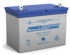 Power-sonic PS-12750 U Battery - 12 Volt 75.0 Amp Hour