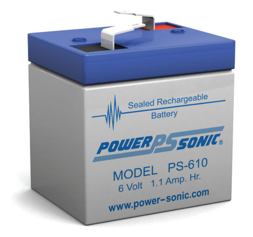 Power-sonic PS-610 Battery - 6 Volt 1.1 Amp Hour