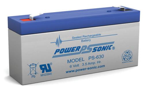 Power Sonic Ps 630 Battery 6 Volt 3 5 Amp Hour
