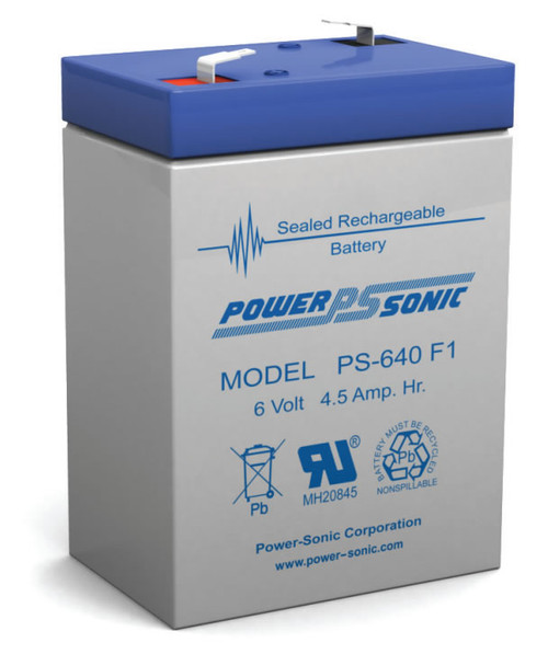 Power-sonic PS-640 F1 Battery - 6 Volt 4.5 Amp Hour