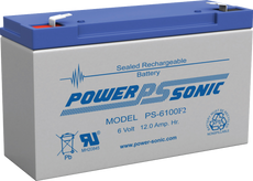 Power-sonic PS-6100 F2 Battery - 6 Volt 12.0 Amp Hour