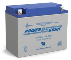Power-sonic PS-6200 Battery - 6 Volt 20.0 AH