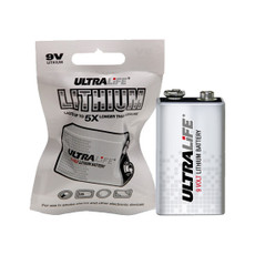 U9VLJPFP Ultralife 9 Volt Lithium Battery - Long-Life 9V