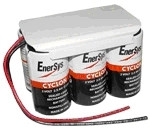 0800-0115 Enersys Cyclon Battery-12 Volt 5.0AH 2x3 Hawker w Leads