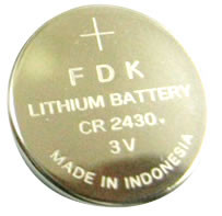 FDK CR2430 Battery - 3V Lithium Coin Cell