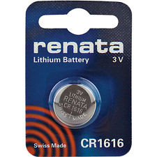 Renata CR1616 Battery - 3V 55mAh Lithium Coin Cell