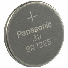 Panasonic BR1225 Battery - 3 Volt 48mAh Lithium Coin Cell