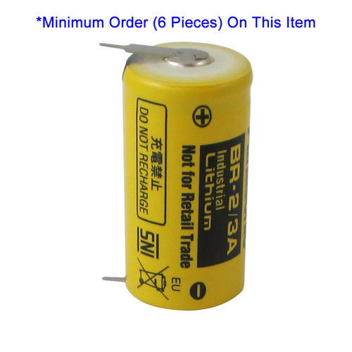Panasonic BR-2/3AE5SP Battery - 3V Lithium with 2 Pins