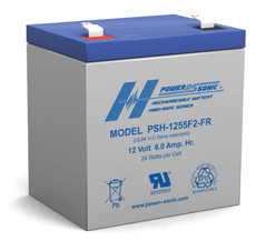 Power-sonic PSH-1255 F2 FR 12 Volt, 6AH High Rate