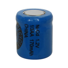 Evergreen 1.2V 130mAh Ni-Cd Rechargeable 1/3 AA Battery - N1/3AA