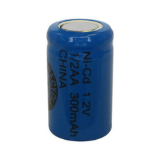 Evergreen 1.2V 300mAh Ni-Cd Rechargeable 1/2 AA Battery - N1/2AA