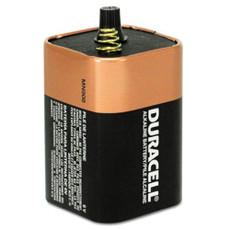 MN908 6V Duracell Coppertop Battery - 6 Volt Lantern Spring Terminals