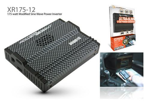 Power Bright XR175-12 - 12 Volt Ultra-Slim 175 Watt Power Inverter