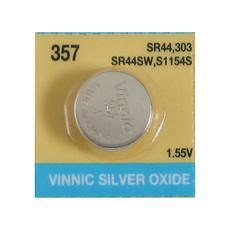 Evergreen SR44W, 357 Silver Oxide Watch Battery 1.55V High Drain