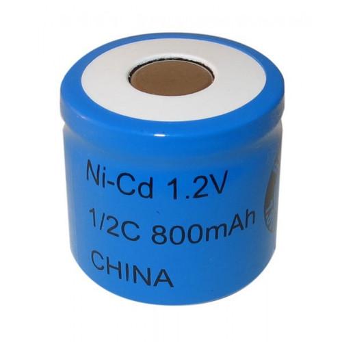 1/2 C 1.2 Volt 800mAh NiCd - Nickel Cadmium Battery (Flat Top)