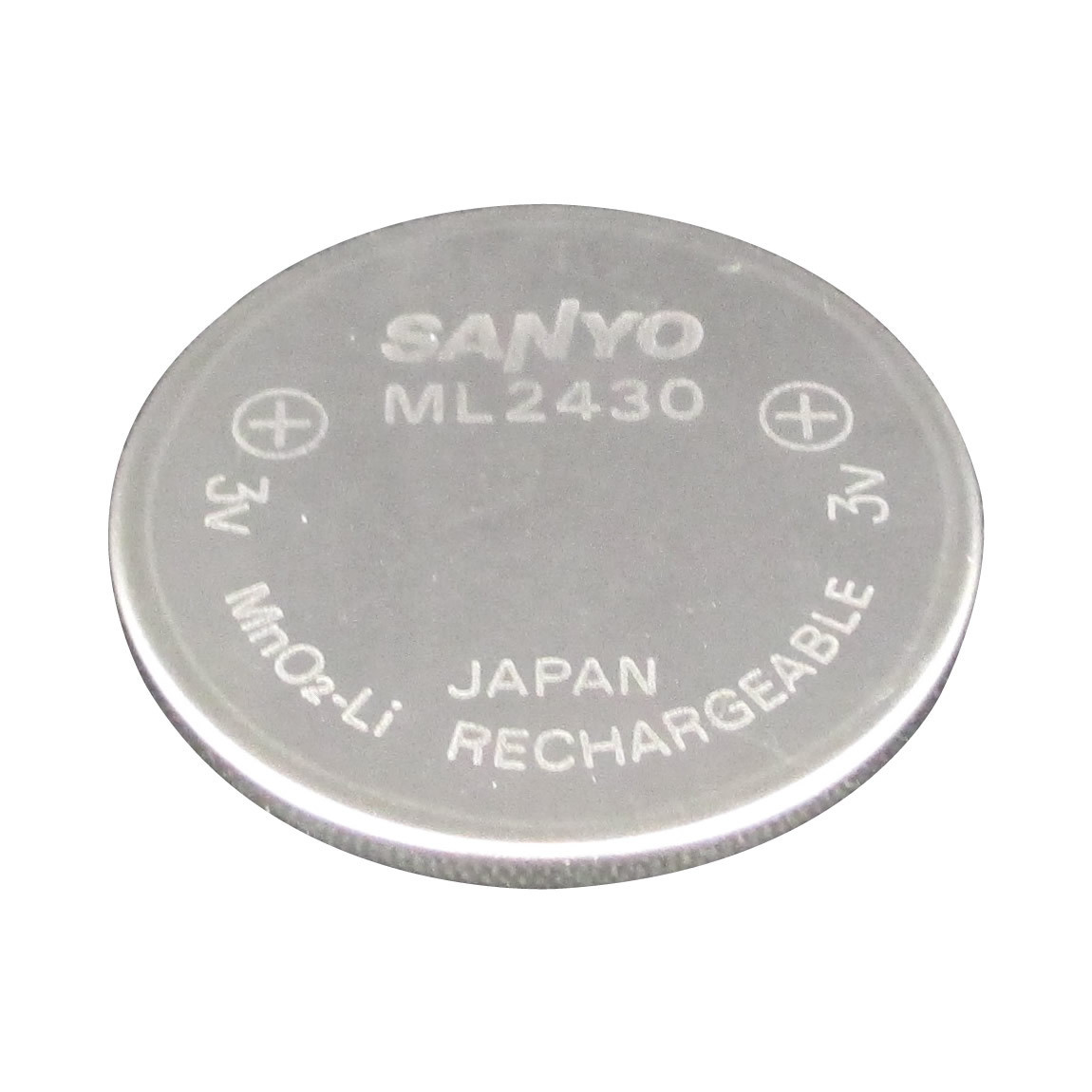 Ml2430 Sanyo Battery 3v Rechargeable Mno2 Li Lithium Cell