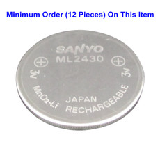 ML2430 Sanyo Battery - 3V Rechargeable MnO2-Li Lithium Cell