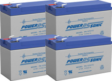 Liebert PS1400rm  Replacement Batteries  ( 4 )  12v 7Ah Batteries