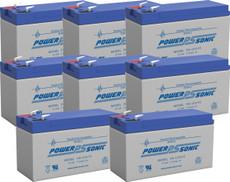 APC 5000RMT5U Replacement Batteries ( 8 ) 12v 7Ah F2 Batteries