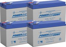 APC  RBC31 Replacement  Batteries ( 4 ) 12v 7Ah F2 Batteries