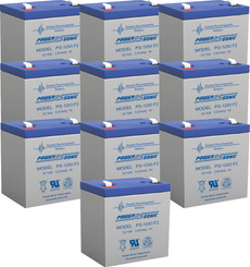 APC RBC118 Replacement Batteries  ( 10 ) 12v 5ah F2 Batteries