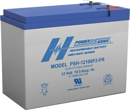 Power-Sonic PSH-12100F2-FR SLA Battery High-Rate Series
