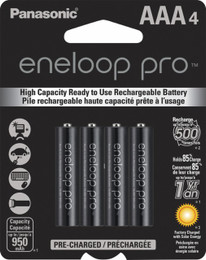 Panasonic eneloop pro AAA Rechargeable Batteries - 4 Pack