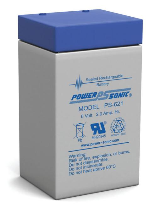 Power-Sonic PS-621 Battery - 6 Volt 2.0 Amp Hour