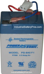 Lithonia ELB0604 Battery - 6 Volt 4.5 Amp Hour