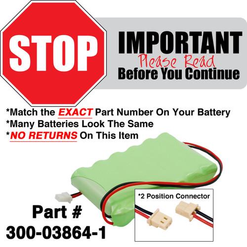 Honeywell Lynx 300-03864-1 Battery for Alarm Panel