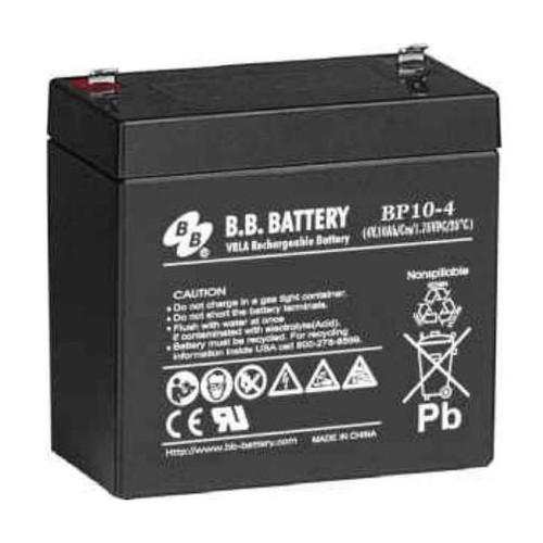 B.B. Battery BP10-4 - 4V 10Ah AGM - VRLA Rechargeable Battery