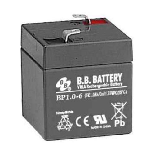 B.B. Battery BP1.0-6 - 6V 1Ah AGM - VRLA Rechargeable Battery