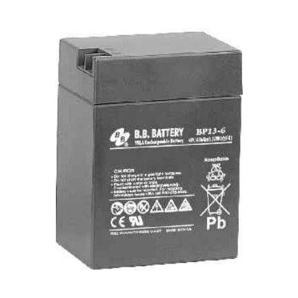 B.B. Battery BP13-6 S - 6V 13Ah AGM - VRLA Rechargeable Battery