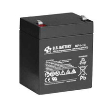 "B.B. Battery BP4-12 (.250"") - 12V 4Ah AGM - VRLA Rechargeable Battery"