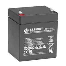 "B.B. Battery BP4.5-12 (.250"") - 12V 4.5Ah AGM - VRLA Rechargeable Battery"