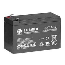 "B.B. Battery BP7.5-12 (.187"") - 12V 7.5Ah AGM - VRLA Rechargeable Battery"