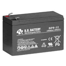 "B.B. Battery BP8-12 (.250"") - 12V 8Ah AGM - VRLA Rechargeable Battery"