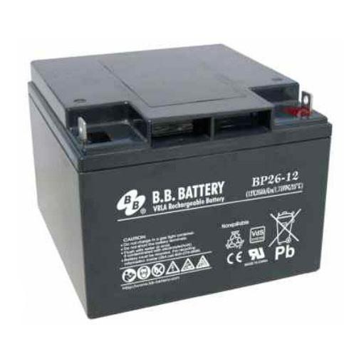 B B Battery Bp26 12 Nut Amp Bolt 12v 26ah Agm Vrla