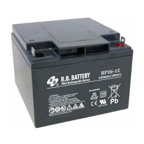 B.B. Battery BP26-12 (Nut & Bolt) - 12V 26Ah AGM - VRLA Rechargeable Battery