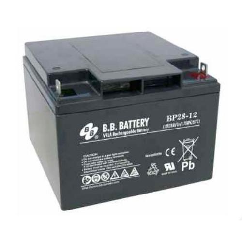 "B.B. Battery BP28-12 (.250"") - 12V 28Ah AGM - VRLA Rechargeable Battery"