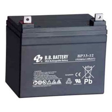 B.B. Battery BP33-12 S (Nut & Bolt) - 12V 33Ah AGM - VRLA Rechargeable Battery