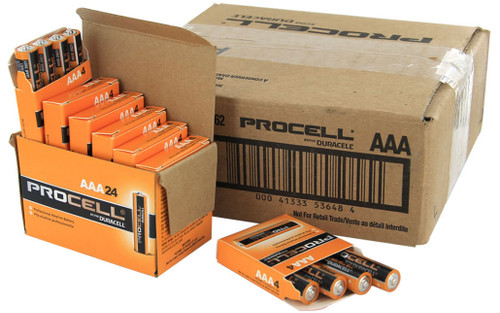 Duracell Industrial AAA Batteries - LR03 - ID2400 - Case of 144