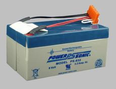 Physio-Control Lifepak 9 Monitor Defibrillator Battery (Powersonic)