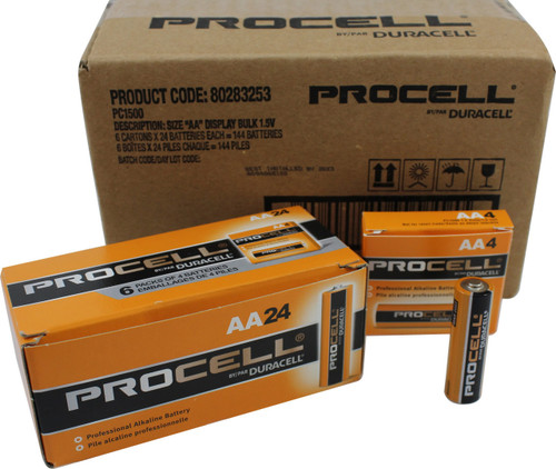 Duracell Industrial AA Batteries - LR6 - PC1500 - Case of 144