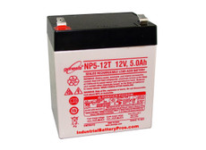 Enersys - Genesis NP5-12T Battery - 12V 5.0Ah Sealed Rechargeable