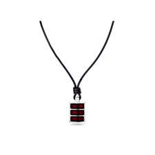House of Amber - MENS NECKLACE WITH LEATHER STRING AND PENDANT