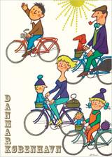 Danmark København Let's bike A3 Poster
