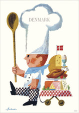 Danish Food Denmark A3 Poster