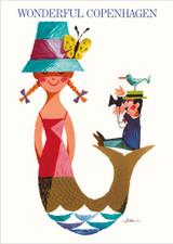 Mermaid Wonderful Copenhagen A3 Poster