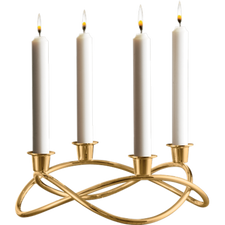 Georg Jensen Season Candleholder Gold Plated